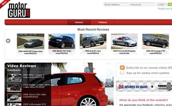 Motorguru - PHP-Driven Website, Startup