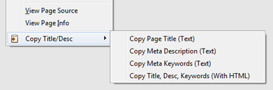 Copy Title and Meta Description - Firefox Add-on - Right Click Context Menu