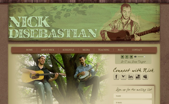 Custom WP Theme Coding - Musician Website