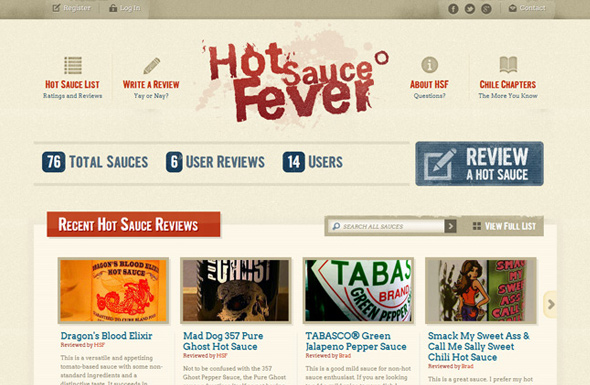 Hot Sauce List Website