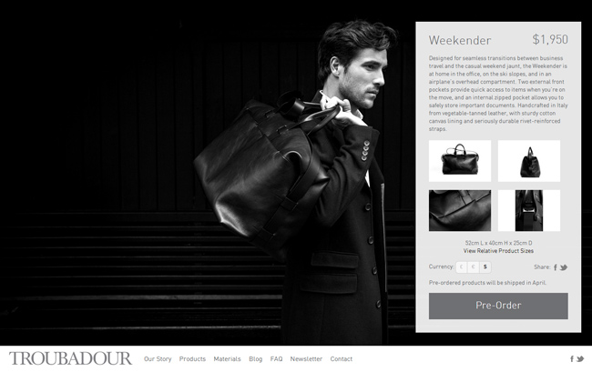Responsive Shopify Theme: Troubadour Goods