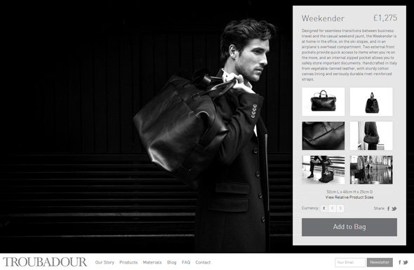 Shopify Responsive Theme Developer - Troubadour 2012