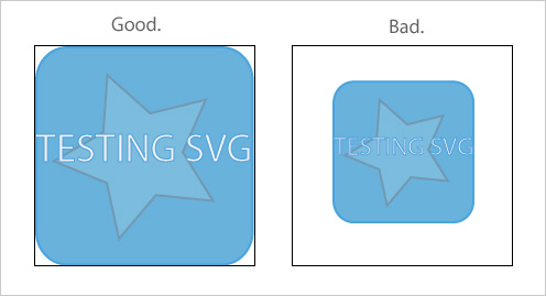 Good vs Bad SVG Cropping