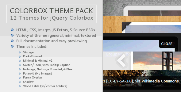 Colorbox Skins Themes Collection