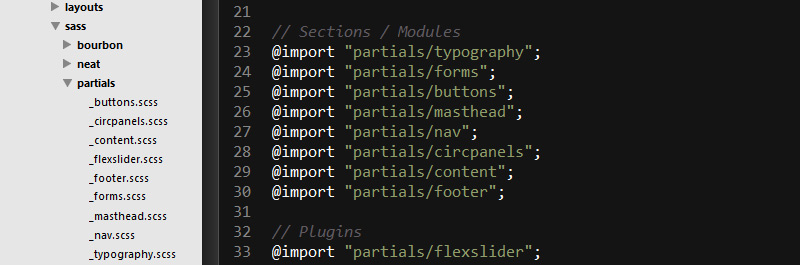 Ignore partials sublime text SASS