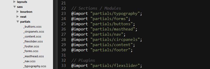 Ignore partials sublime text SASS