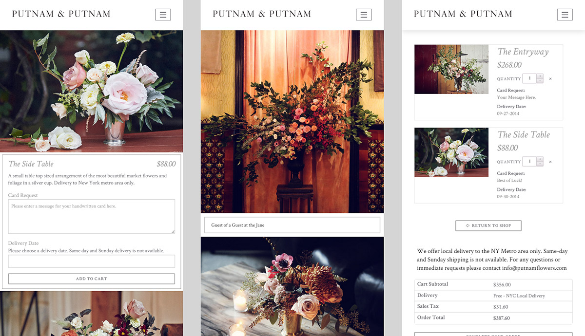 Mobile Responsive WordPress Theme - Putnam Flowers - Developer